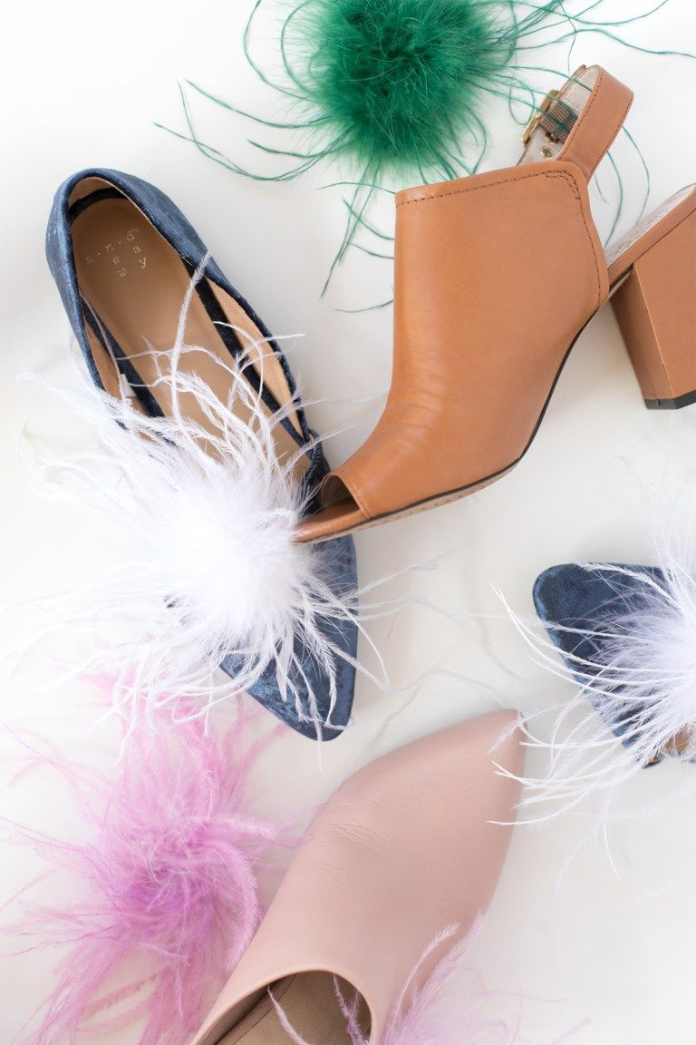 ed662caae97 How to Dye Ostrich Feathers and DIY Anthropologie Inspired Shoe ...