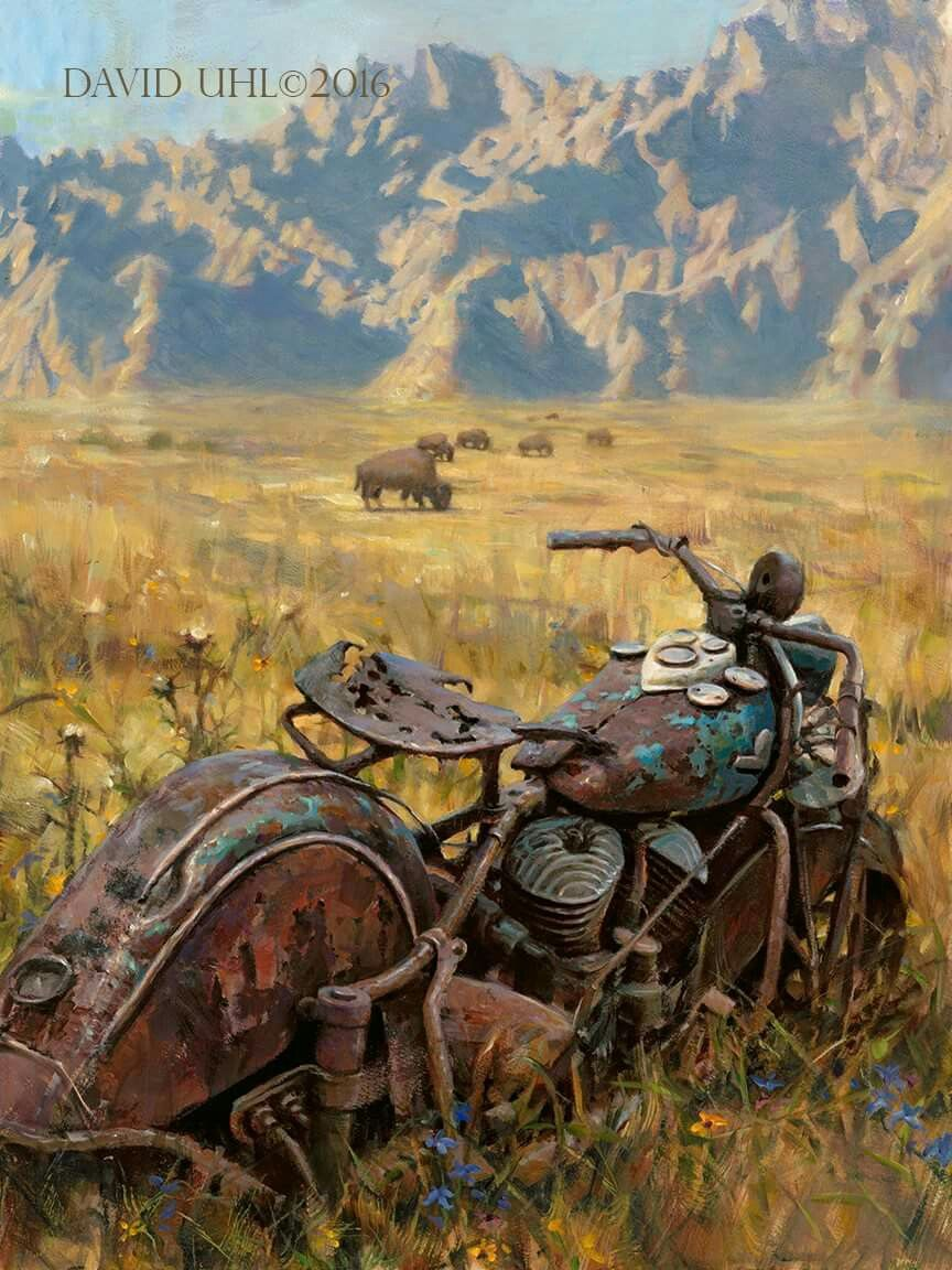Official Sturgis Commemorative 2016 Quot The Badlands Quot Oil On