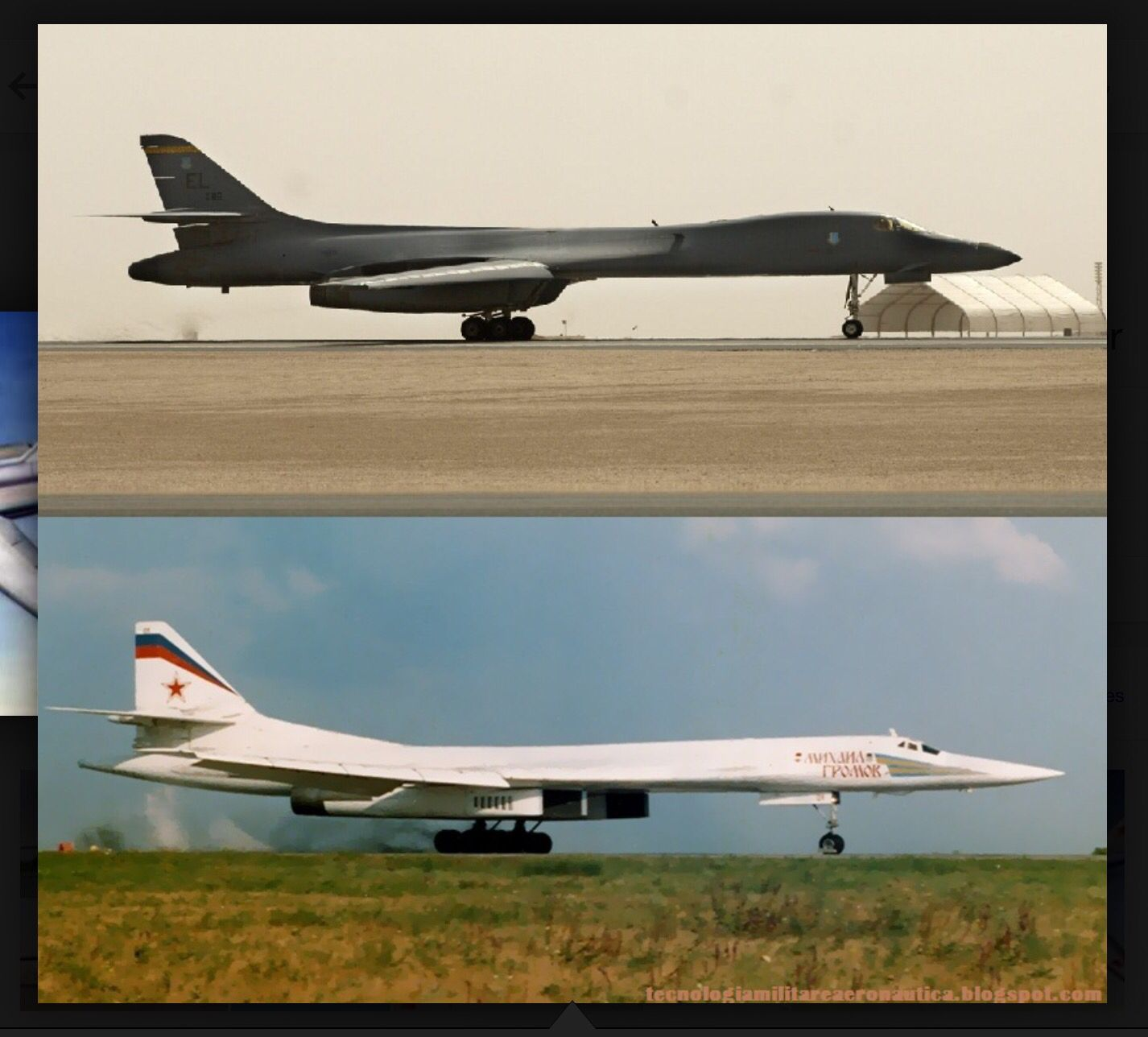 US B-1B Lancer vs Russian Tu-160 Blackjack | Airplanes ... B1 Lancer Vs Tu 160