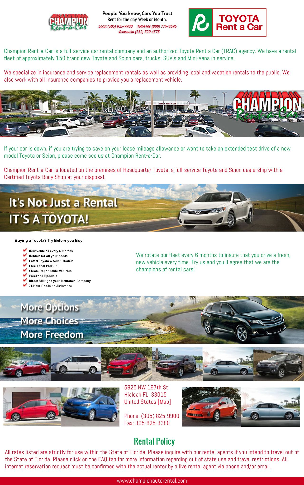 Http Www Championautorental Com We Specialize In Insurance And