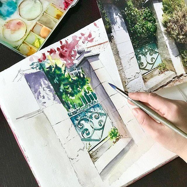 Watercolorist Sasha Kamantceva Waterblog Akvarel