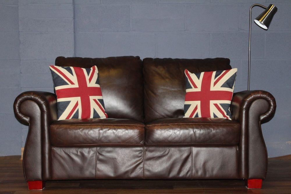 Vintage John Lewis Chesterfield Ranch Brown Leather Club Sofa Courier Brown Leather Sofa Chesterfield
