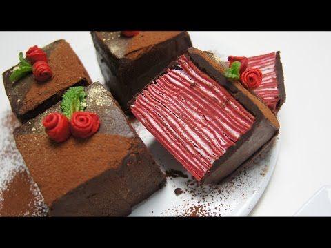 Youtube Pastel De Chocolate Facil Crepes De Chocolate Tartas