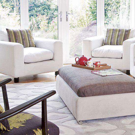 Smallspace Living: New Home Interior Design: Modern Living Room