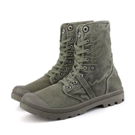 Mens Retro Army Lace Up Desert High Tops Military Outdoor Ankle Boots Shoes size