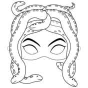 Medusa Mask Coloring Page Coloring Pages Free Printable Coloring Free Printable Coloring Pages