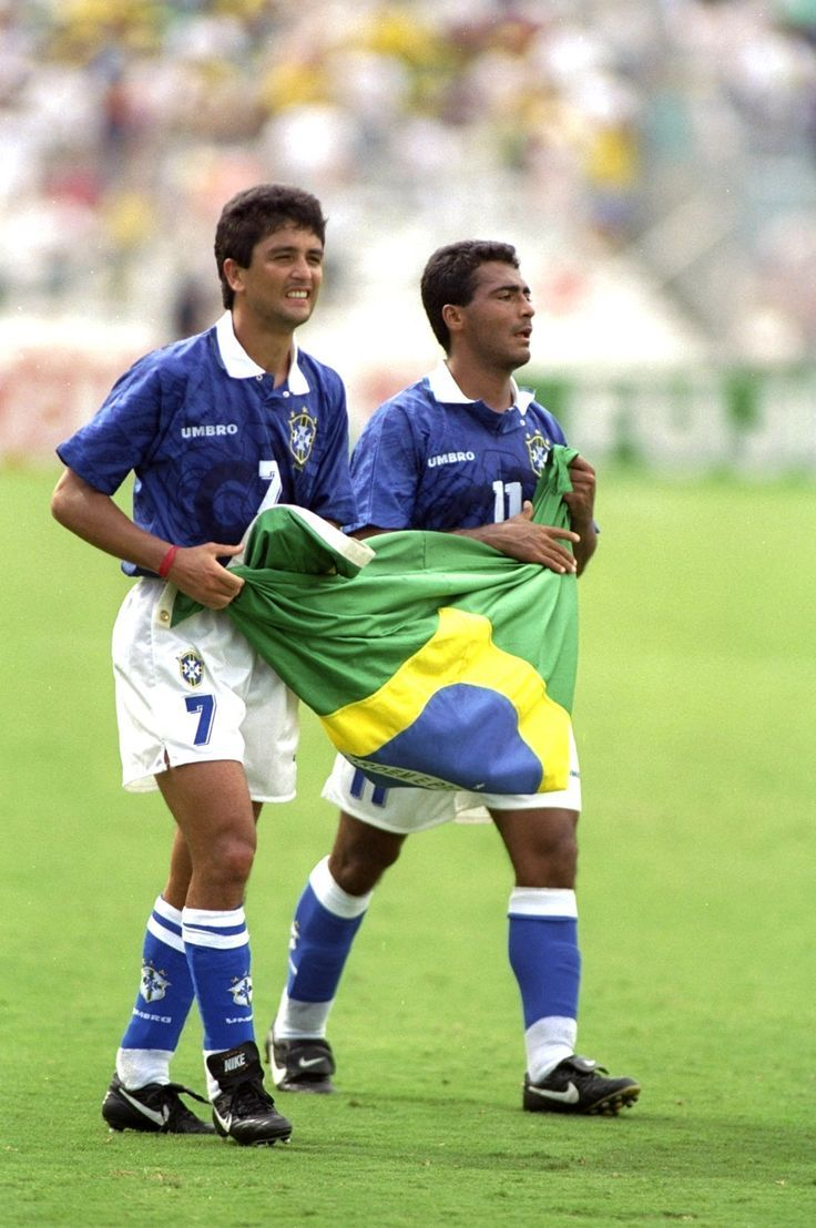 Bebeto Romario Brazil Usa 94 World Cup Brazil Football Team Best Football Players World Football