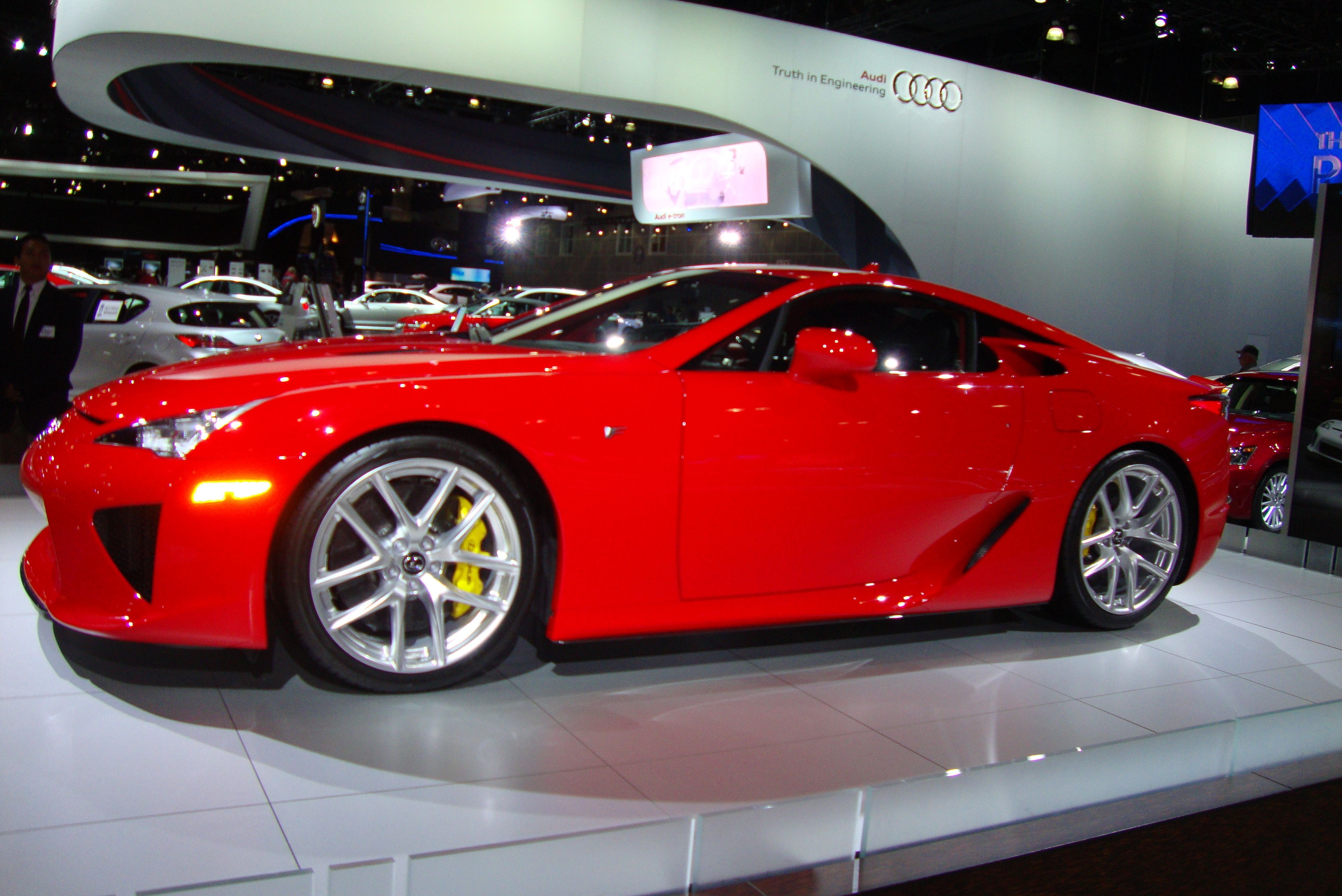 LEXUS LFA pic by me taken at the Los Angeles Auto Show