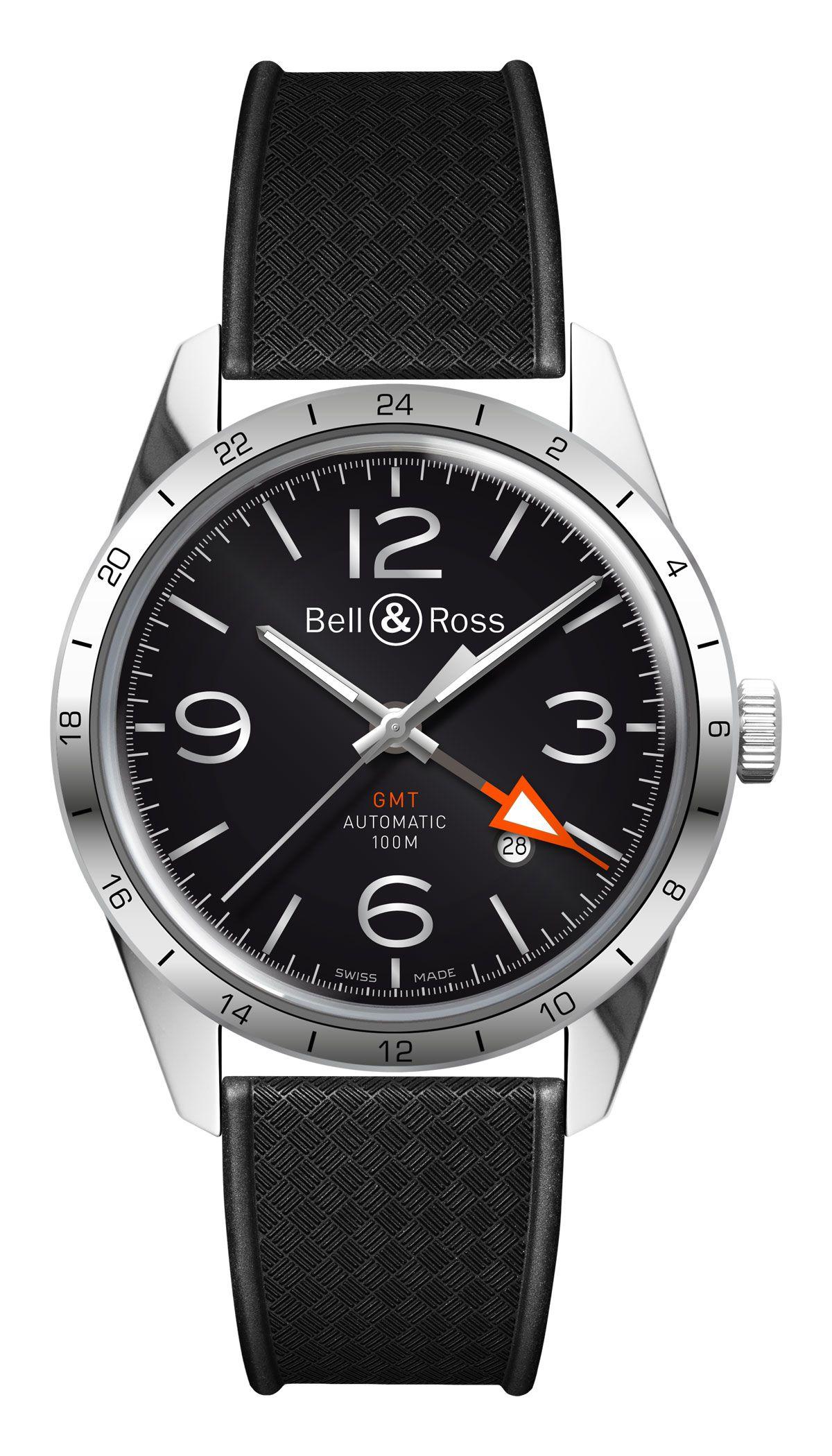 Die klassisch gestaltete Bell & Ross Vintage BR 123 GMT 24H wird durch ihre zweite Zeitzone zum überzeugenden Begleiter aller, die gern und viel durch die Welt reisen. Durch die GMT-Funktion (G...