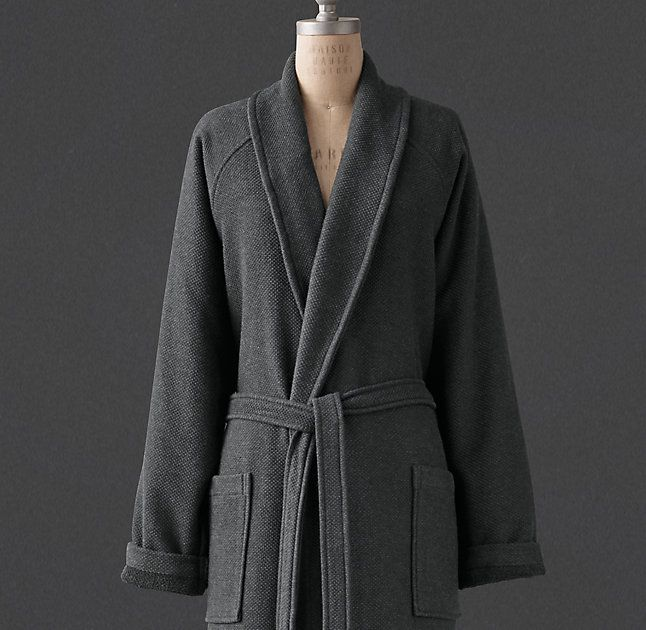 RH s Textured-Weave Terry Robe Combining a nubby textured-weave cotton  shell with ff71b48a1
