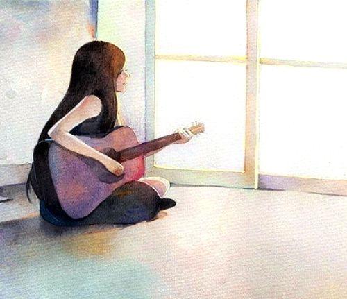 desenho de meninas desenahndo tumblr - Pesquisa Google ... Cantando Na Chuva