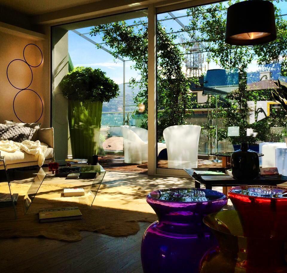 Il #soggiorno raddoppia grazie al grande #terrazzo! #attico ...