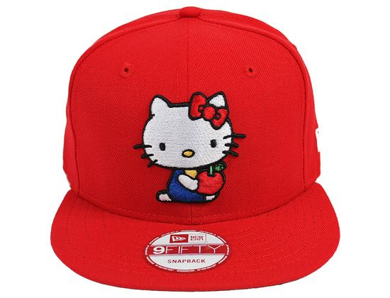 Red Hello Kitty 9Fifty Snapback Cap by SANRIO x NEW ERA  cdd7354f4bb