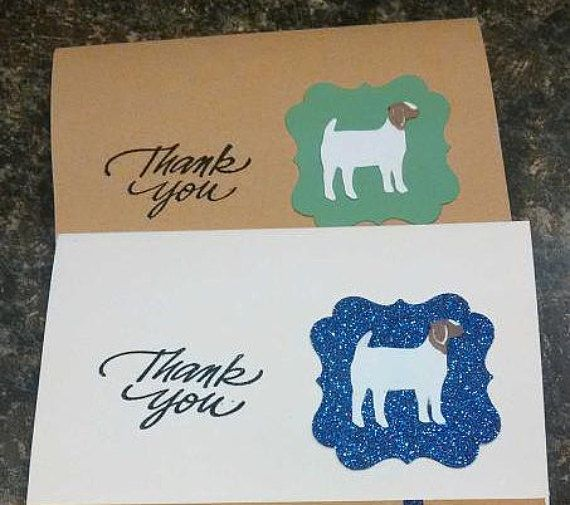Boer Goat Thank You Cards Etsy Boer Goats Goat Gifts Handmade Thank You Cards
