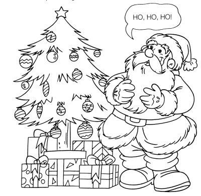 Drawings And Risks Of Trees Christmas Coloring Drawings And