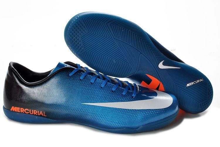 hot sale online 3c0a5 9fed9 Nike Mercurial Vapor IX IC Indoor Soccer Shoes Blue Sapphire Black White