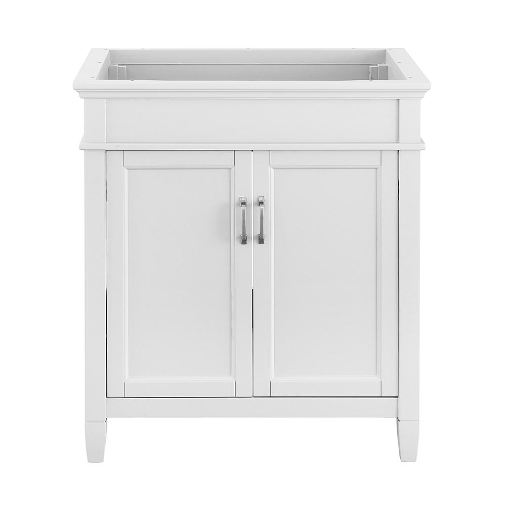 Foremost Ashburn 30 in. W x 21.63 in. D Vanity Cabinet in White ...