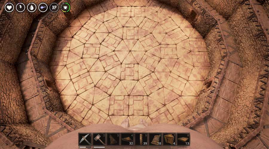 How To Build Circles Spiral Stairs And Arena In The Conan Exiles Conan Exiles Conan Ark Survival Evolved Bases