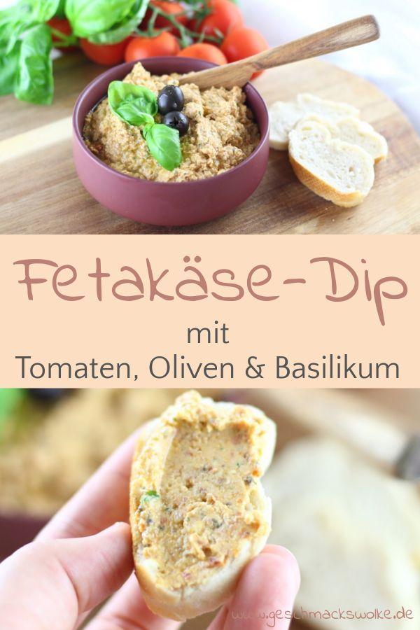 Mediterraner Tomaten-Feta-Dip mit Oliven ⋆ Geschmackswolke