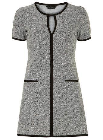 Grey tweed ponti tunic - Tops & T-Shirts  - Clothing