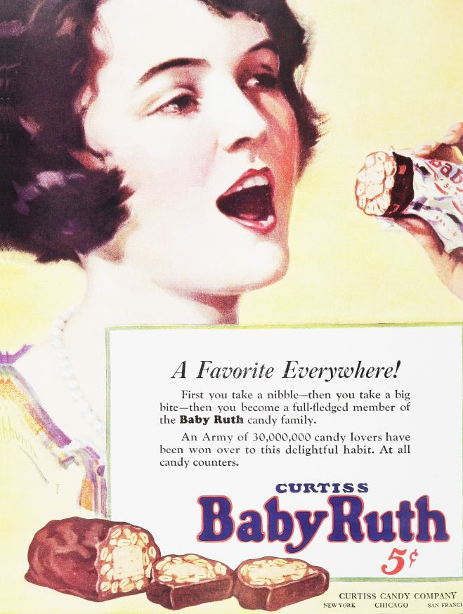 baby ruth.  Nah, this isn't suggestive at all.