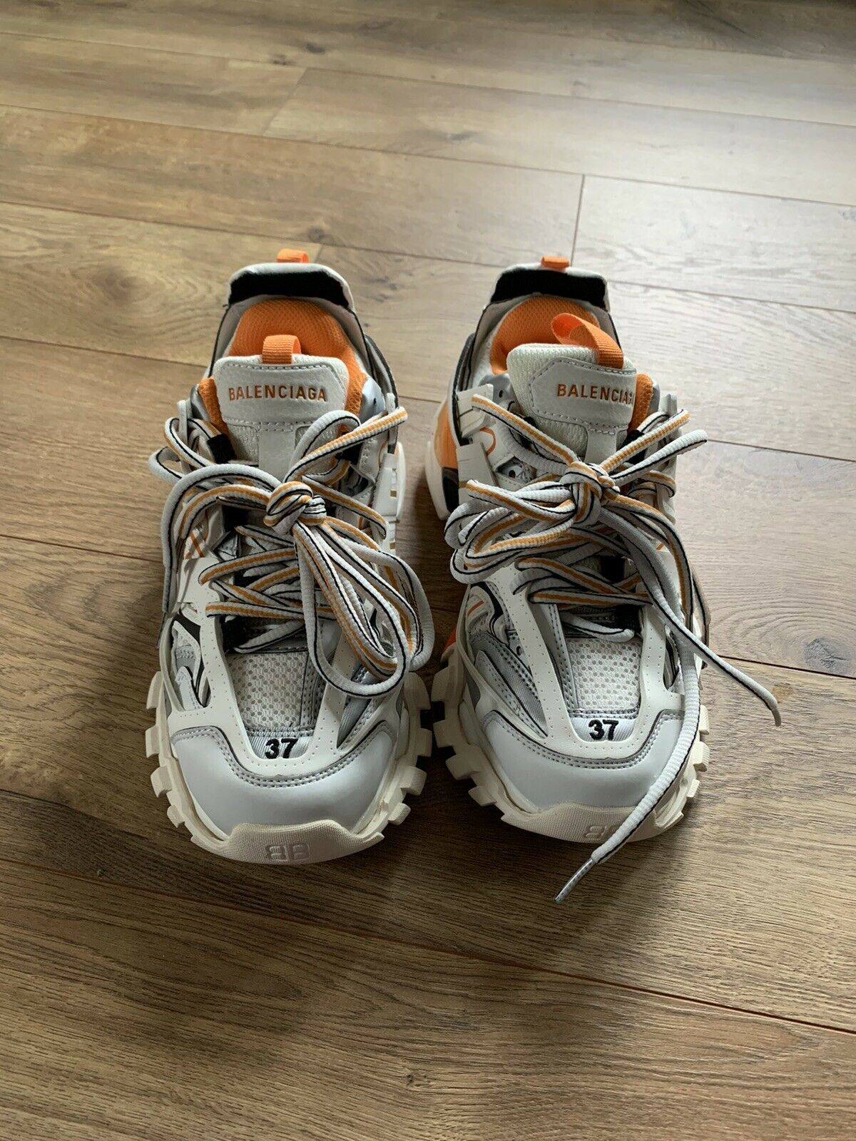 Balenciaga Track Sneaker White Orange 37 Sneakers Sneakers White Sneakers Fashion