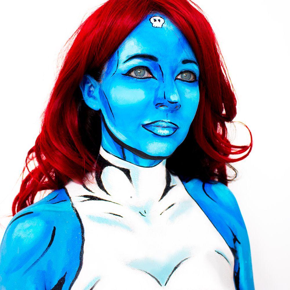 Classic Mystique XMen Bodypaint Body painting, Mystique