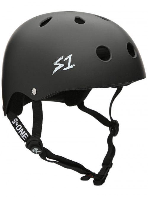 S One Premium Skateboard Helmet Matte Black Skateboard Helmet Helmet Skateboard