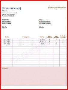 packing slip template pdf
