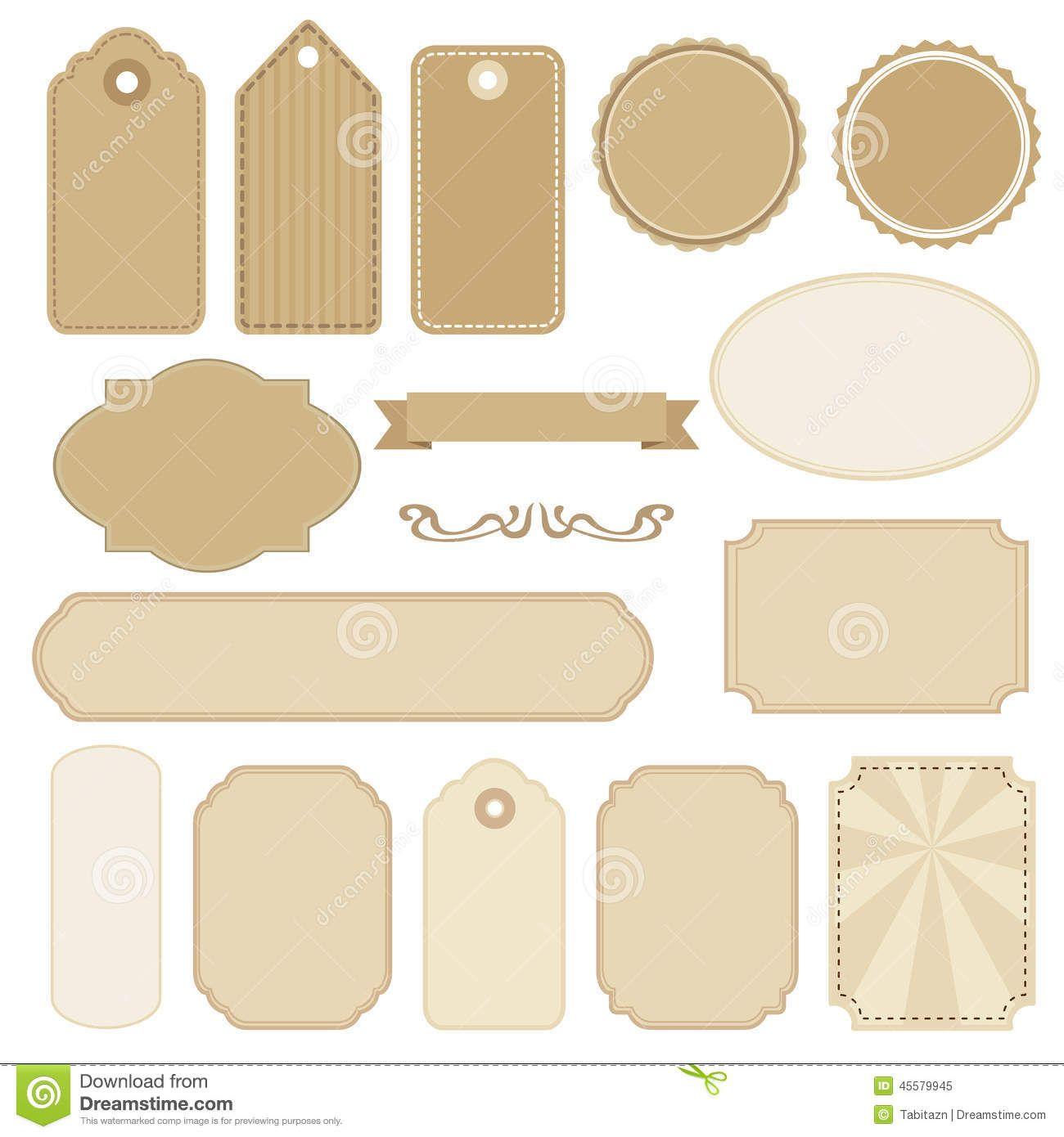 Illustration About Set Of Blank Vintage Frames Tags And Labels Isolated S Illustration Of Message Packagi In 2020 Vintage Frames Vintage Lettering Clip Art Vintage