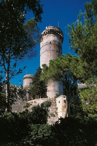 Cylindrical tower of the castle of Oria, Apulia, Italy