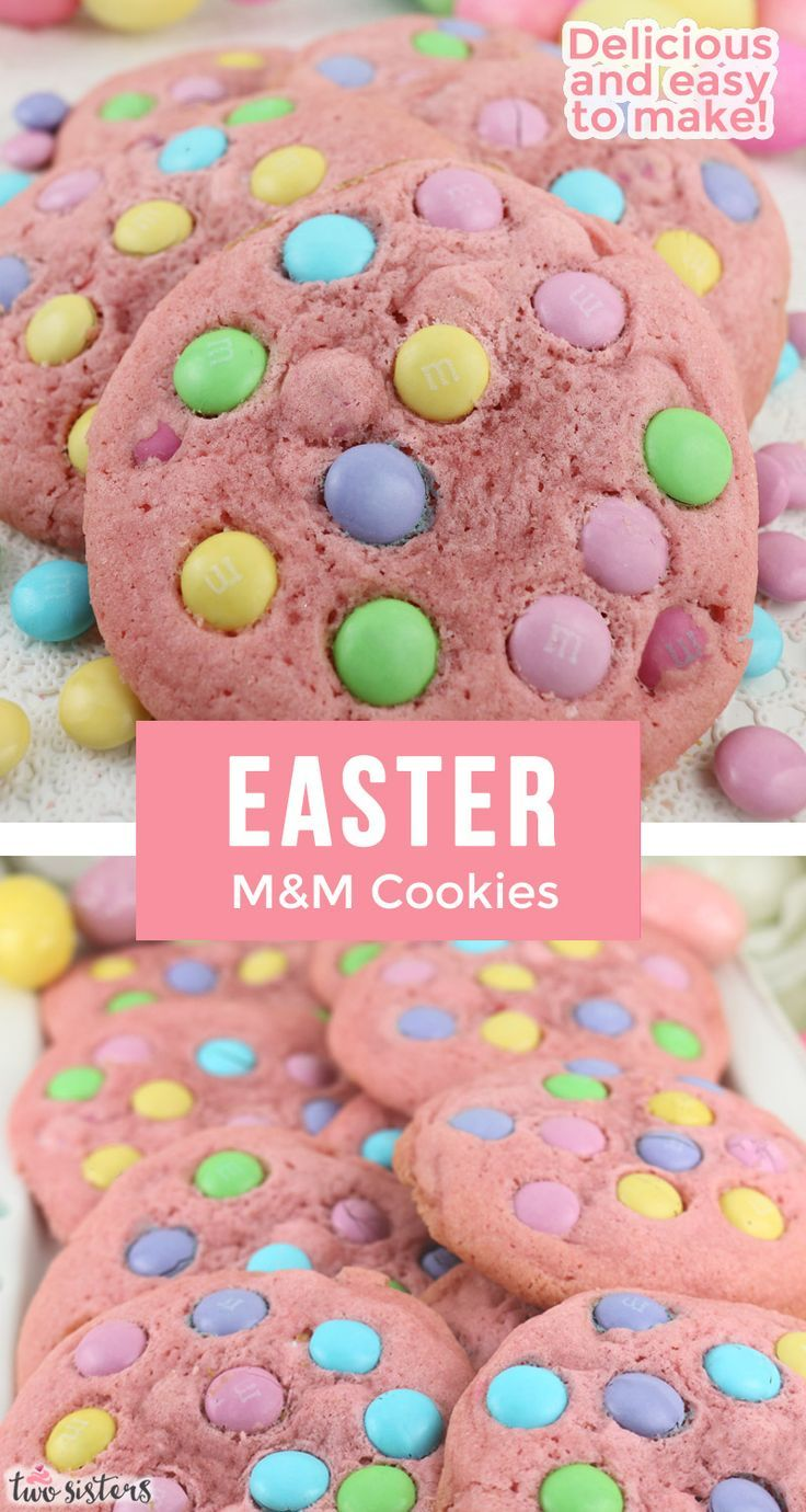 Photo of Easter M&M Cookies