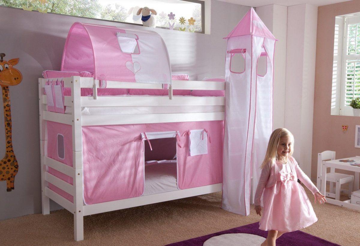 Etagenbett Jan Relita : Einzel etagenbett rosa buche weiß lackiert relita fsc