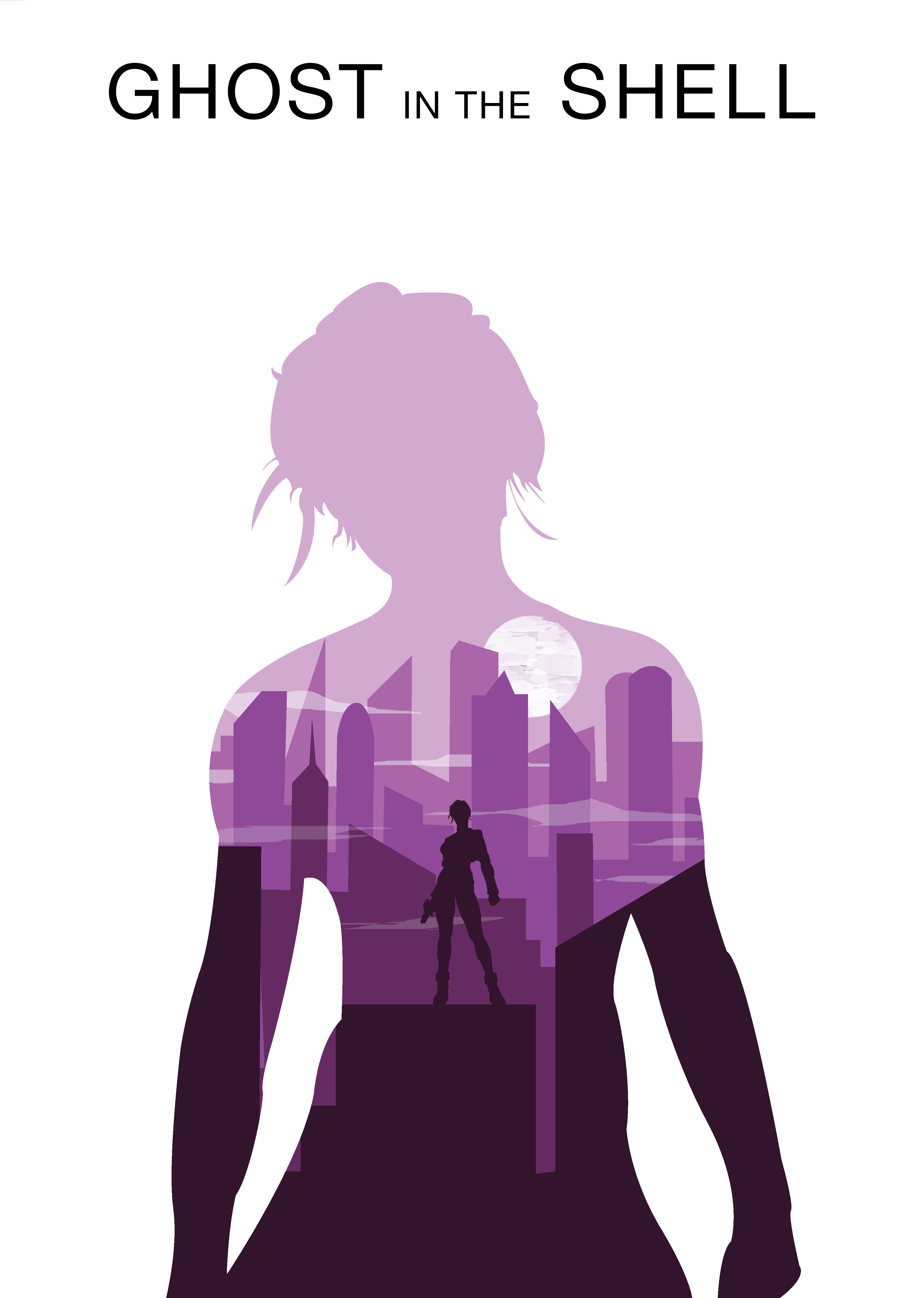 Ghost In The Shell Minimalist Movie Poster Copyright C Theartlessasylum 2015 Ghost In The Shell Film Posters Minimalist Minimalist Movie Poster