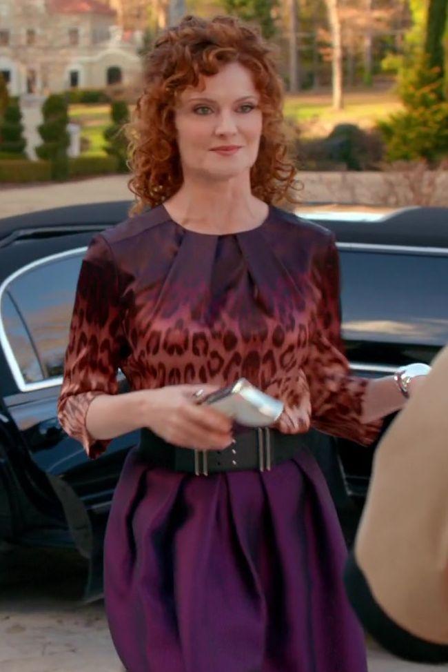 e61c0d3ec58c27 Evelyn Powell wore a J Brand Janine Leopard-Print Ombre Blouse on Devious  Maids.