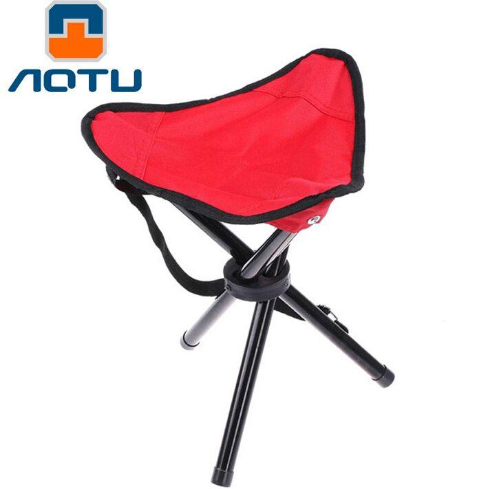 Aotu Large Three Legged Fishing Stool Outdoor Portable