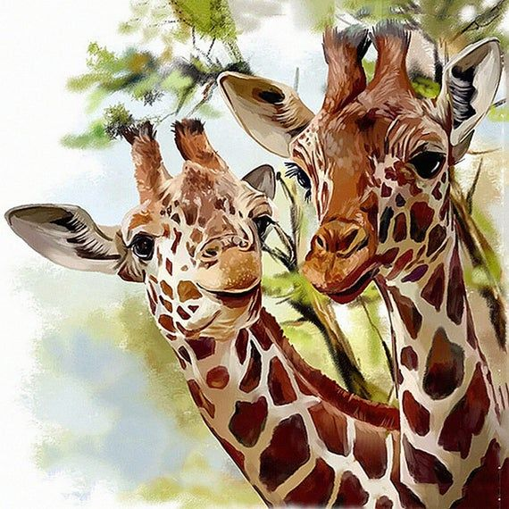 """Fast delivery Full Square/Round Drill 5D DIY Diamond Painting """"Animal giraffe"""" Diamond Embroidery Cross Stitch 3D Home Decor gift"""