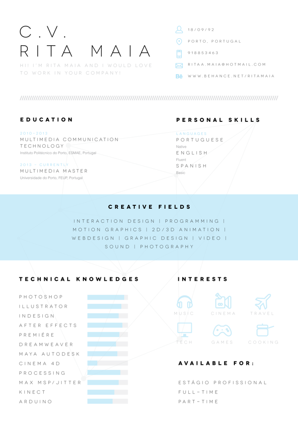 great clkean look on this resume style love the middle banner