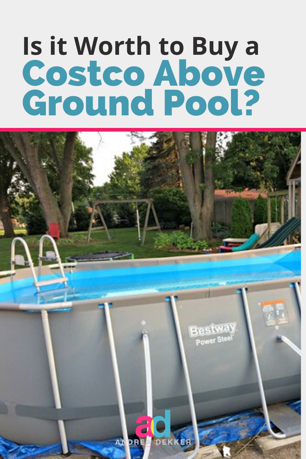 We Bought A Costco Pool Here S Everything You Need To Know Little Pool Backyard For Kids Best Above Ground Pool