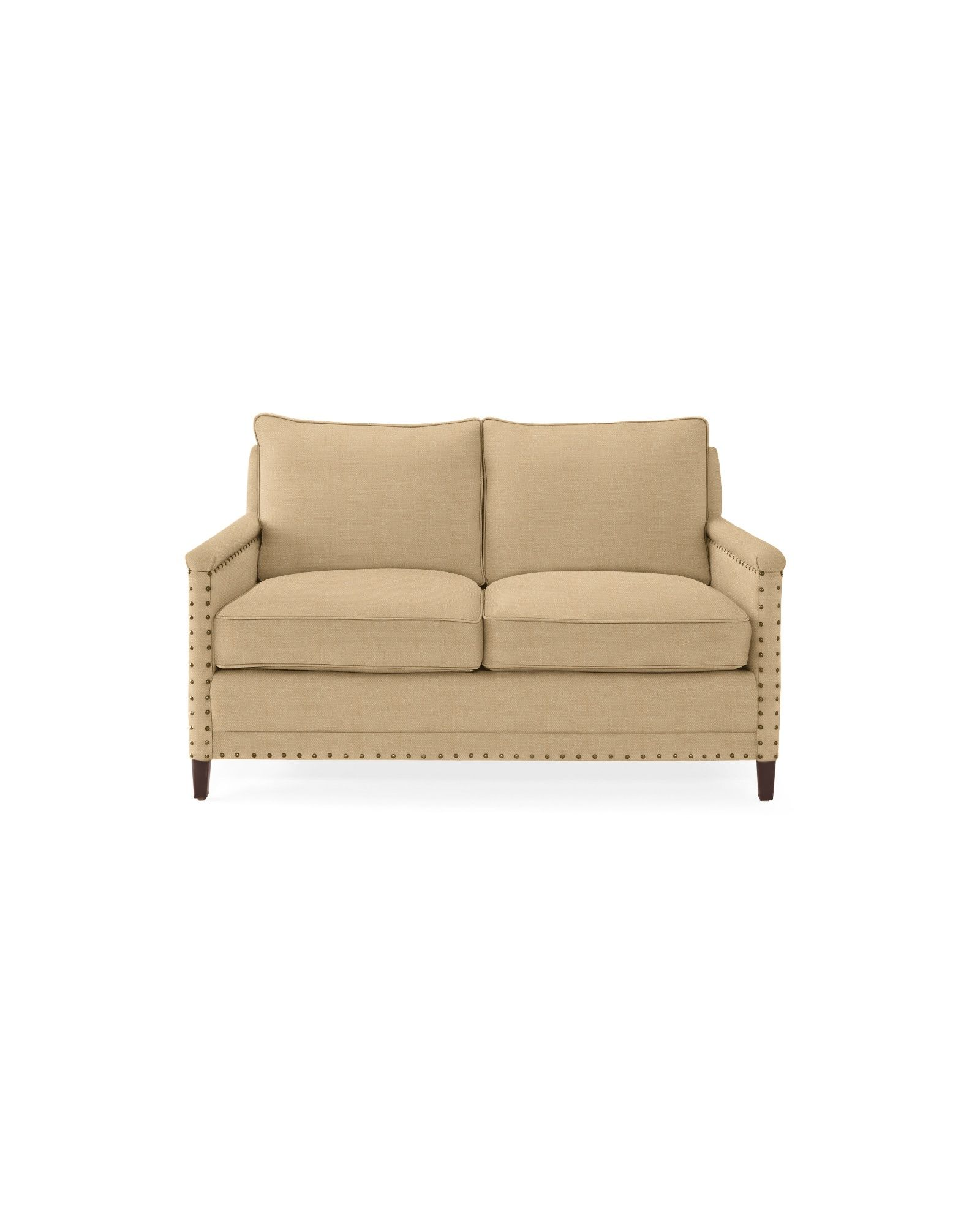 Spruce Street Loveseat With Nailheads Love Seat Living Furniture New England Homes