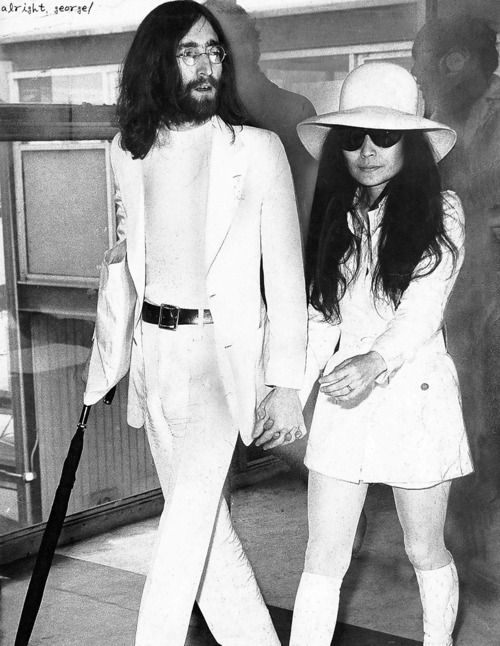 John And Yoko I Still Dont Like Yokobut Her Outfit