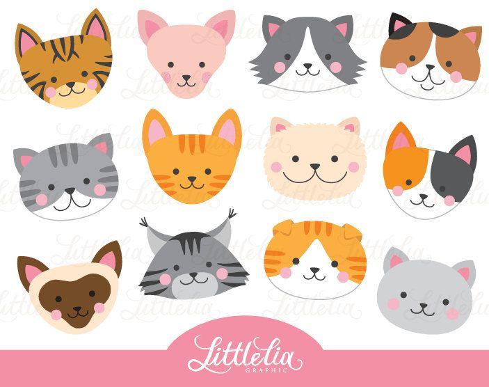 Cat Head Clipart Cat Face Clipart 16069 Arte Fofa Gatos