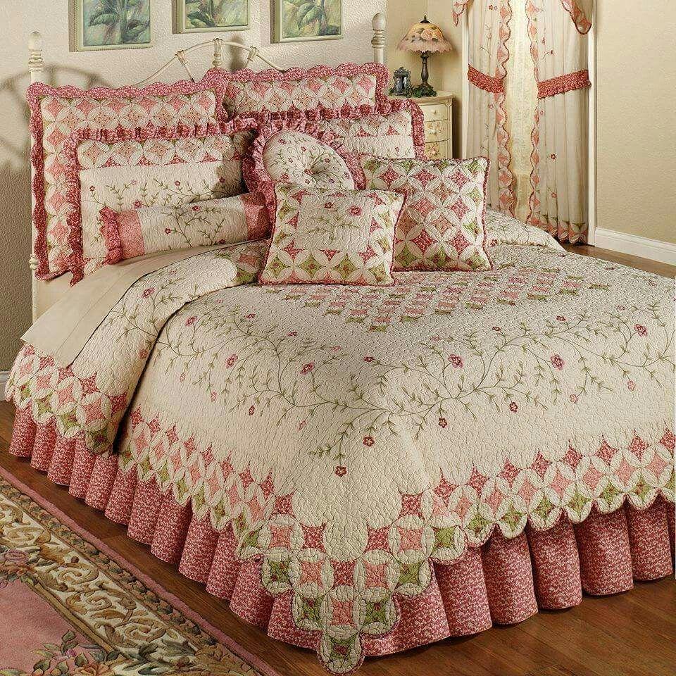 Pretty In Pink Bedroom!!! Bebe'!!! So pretty!!! Bed sets