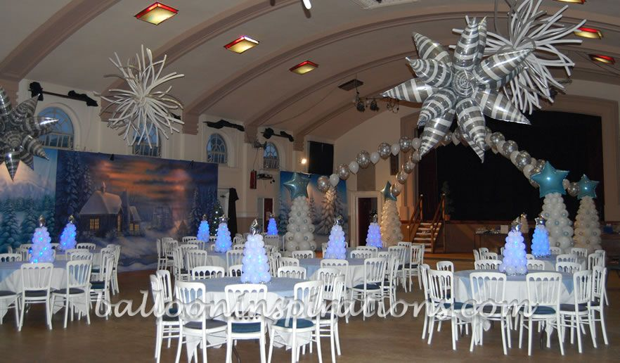 Winter Wonderland Decorating Ideas Balloon Christmas Party