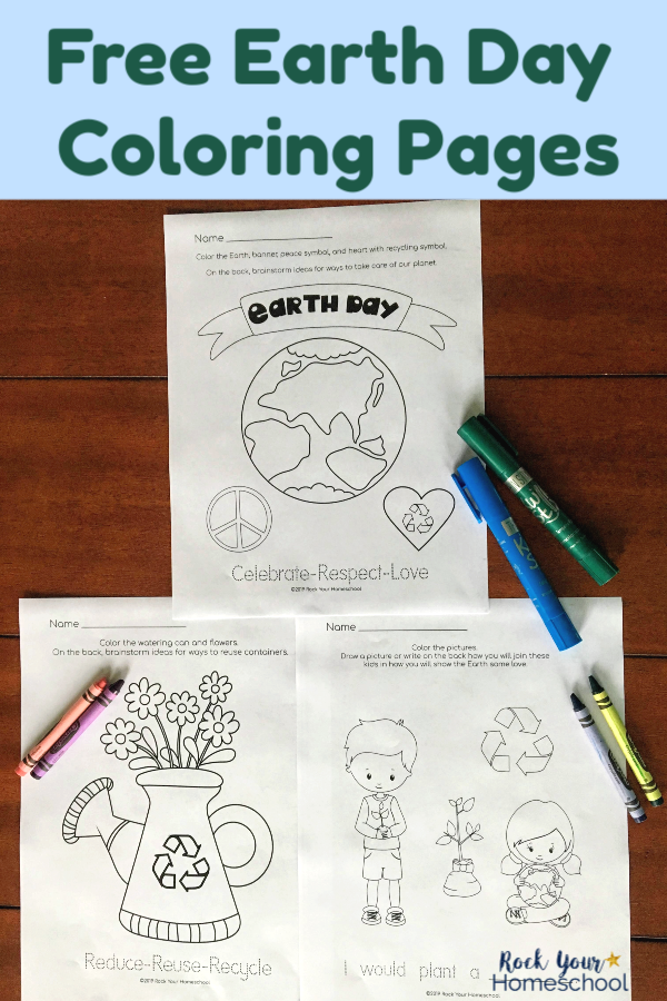 Free Earth Day Coloring Pages for Fun Activities for Kids