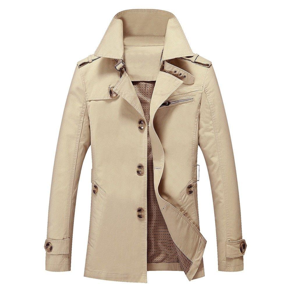 Solid Pocket Button Up Jacket Light Khaki 4553581127