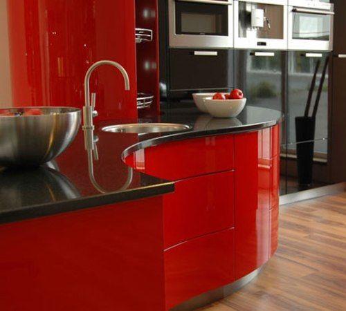 Dise o de interiores arquitectura dise os de cocinas - Cocinas rojas ...