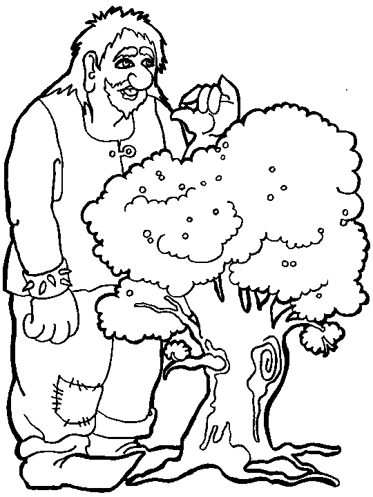 cartoon giant coloring pages | These Trolls Are Eating Fruit On Trees | Trolls and Giants ...