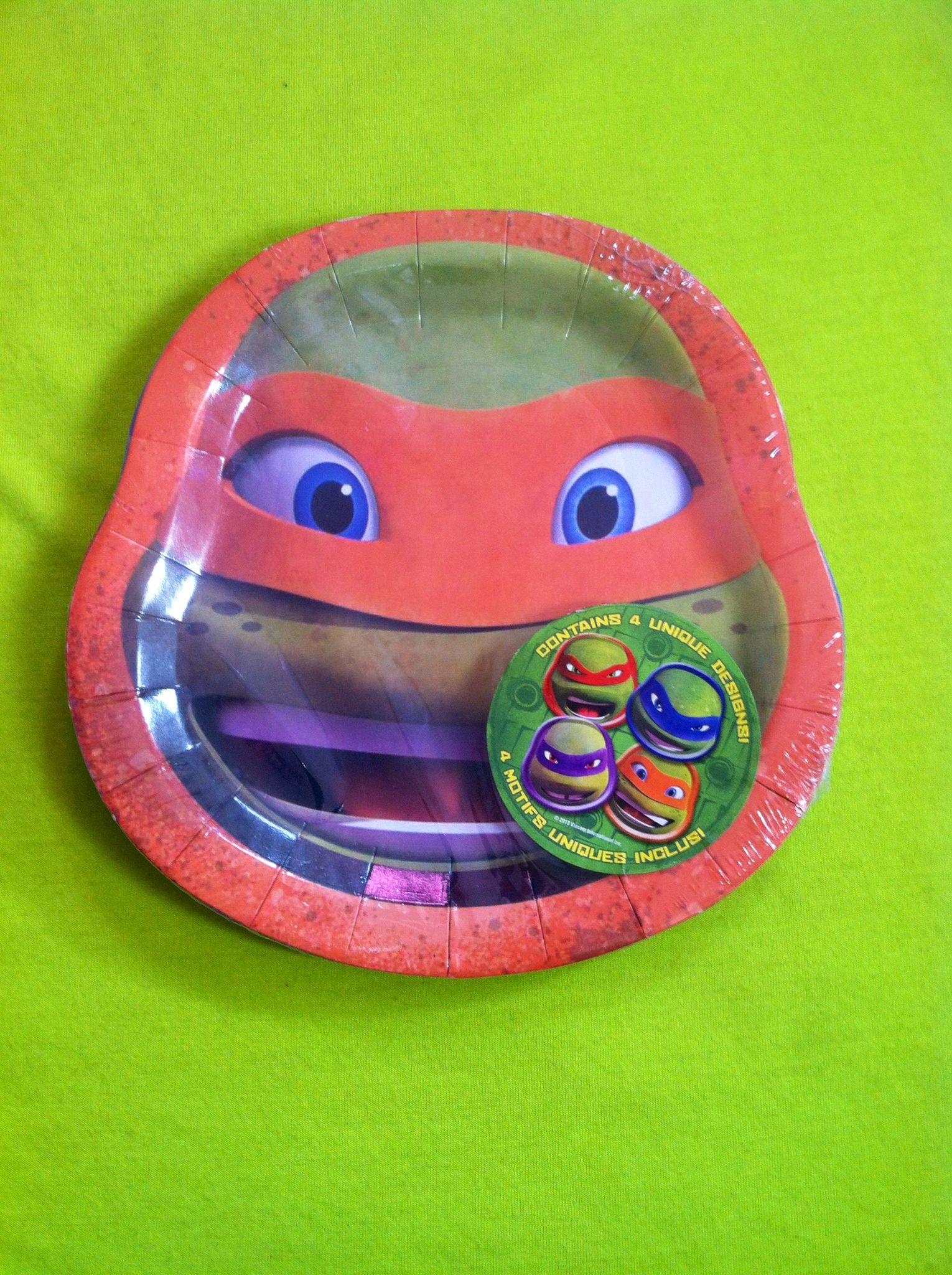 8 TMNT Teenage Mutant Ninja Turtles Cake Plates