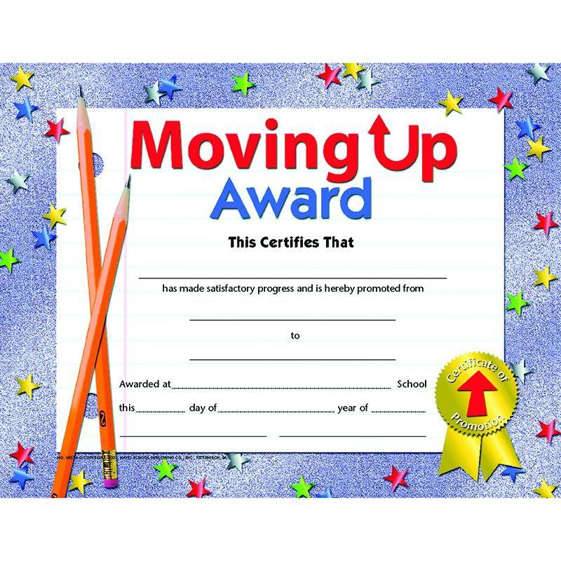 Moving Up Award Award certificates, Nursing school